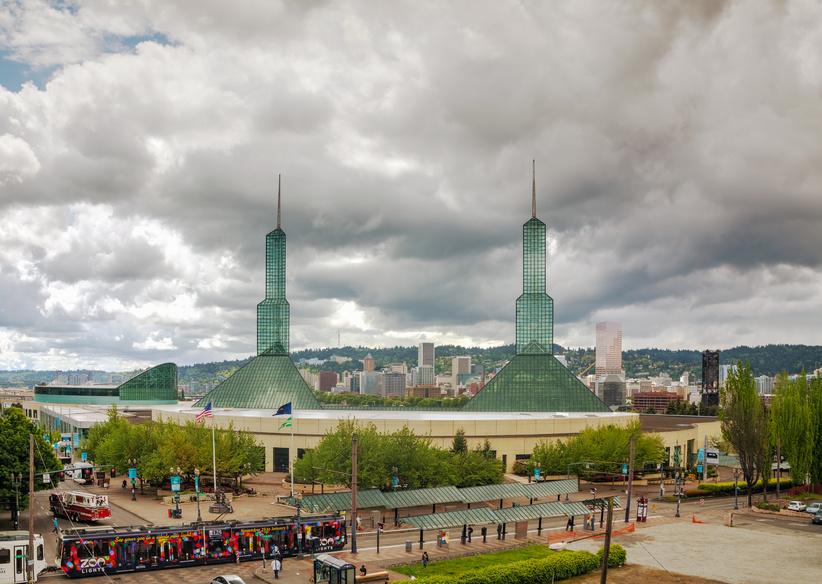 Oregon convention center in Portland